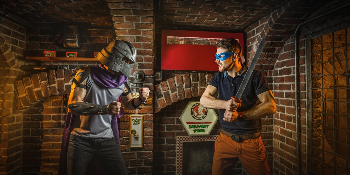 Escape Game Teenage Mutant Ninja Turtles, Claustrophobia . Moscow.